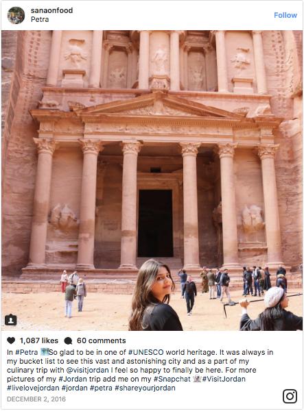 SanaOnFood at Petra