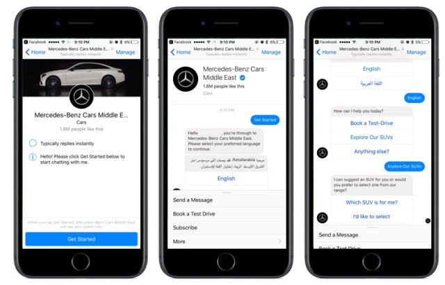 Mercedes Benz Middle East Chatbot